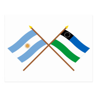 Argentina and Río Negro Crossed Flags Postcard