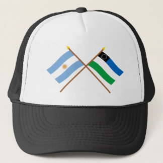 Argentina and Río Negro Crossed Flags Trucker Hat