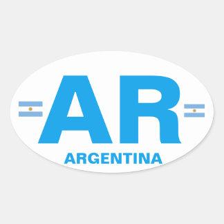 Argentina - AR Euro-style Oval Sticker