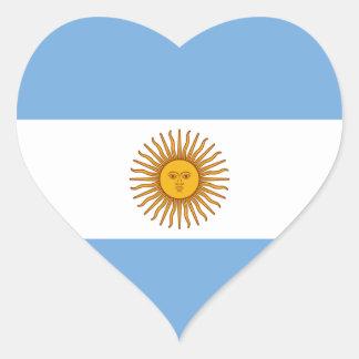 Argentina Argentine Heart Flag Heart Stickers