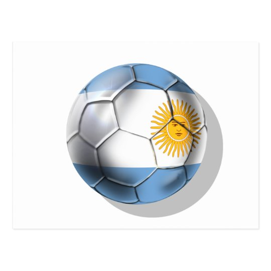 Argentina Argentine Soccer Ball Shirts Postcard