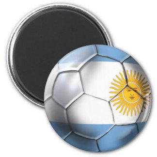 Argentina Argentine Soccer Ball Sports fans 2 Inch Round Magnet