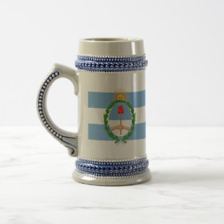 argentina arms beer stein