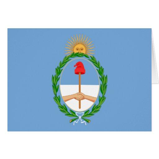 argentina arms card