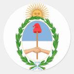 argentina arms classic round sticker