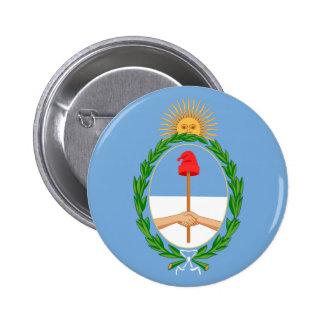 argentina arms pinback button