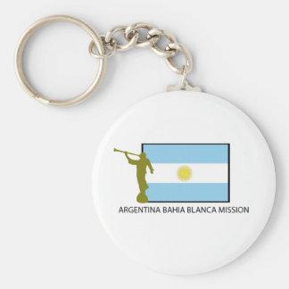 Argentina Bahia Blanca Mission Basic Round Button Keychain