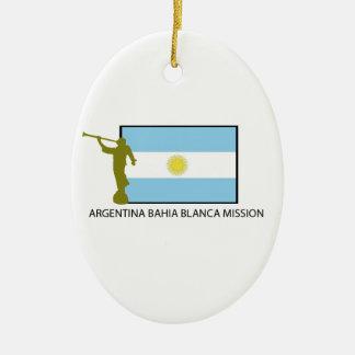 Argentina Bahia Blanca Mission Ceramic Ornament