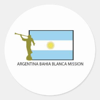 Argentina Bahia Blanca Mission Classic Round Sticker