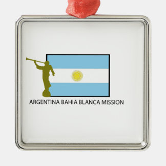 Argentina Bahia Blanca Mission Metal Ornament