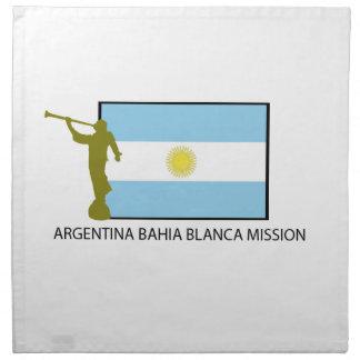 Argentina Bahia Blanca Mission Napkin