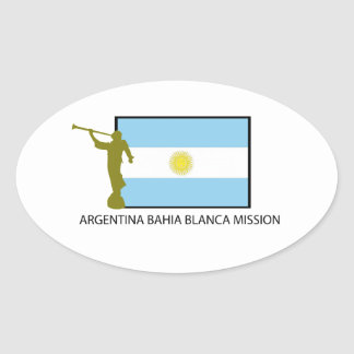 Argentina Bahia Blanca Mission Oval Sticker