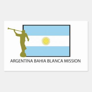 Argentina Bahia Blanca Mission Rectangular Sticker