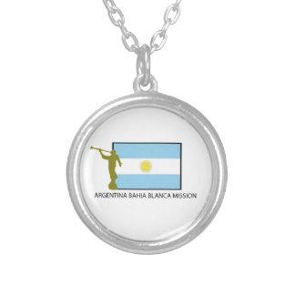Argentina Bahia Blanca Mission Round Pendant Necklace