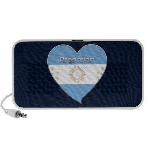 ARGENTINA bandera y corazón de colores argentinos iPod Altavoces