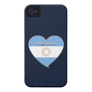 ARGENTINA bandera y corazón de colores argentinos Funda Para iPhone 4