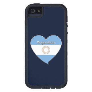 ARGENTINA bandera y corazón de colores argentinos Funda Para iPhone SE/5/5s