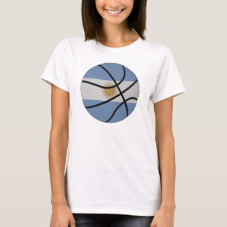 Argentina Basketball Ladies Baby Doll T-Shirt