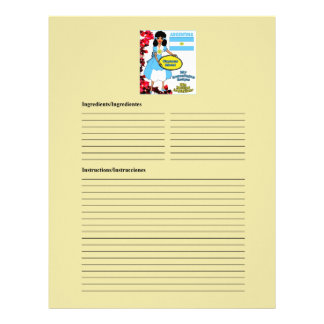 Argentina blank meat recipe cards