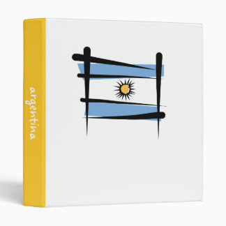 Argentina Brush Flag 3 Ring Binder