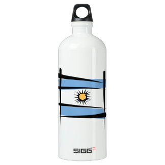 Argentina Brush Flag Aluminum Water Bottle