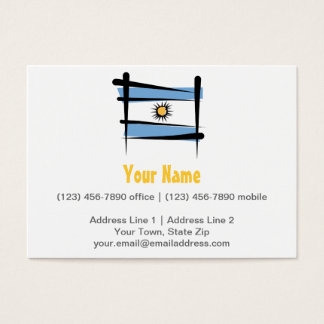 Argentina Brush Flag Business Card