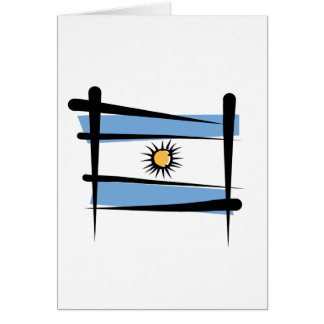 Argentina Brush Flag Card