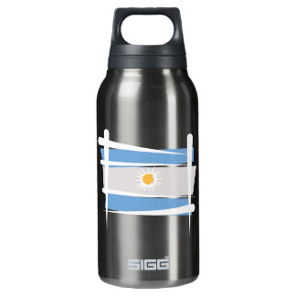 Argentina Brush Flag Insulated Water Bottle