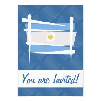 Argentina Brush Flag Cards