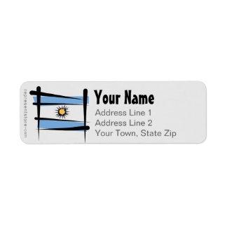 Argentina Brush Flag Label
