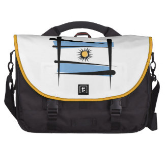 Argentina Brush Flag Bag For Laptop