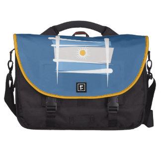 Argentina Brush Flag Laptop Commuter Bag
