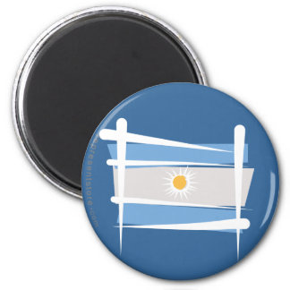 Argentina Brush Flag Fridge Magnet