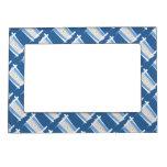 Argentina Brush Flag Magnetic Picture Frame