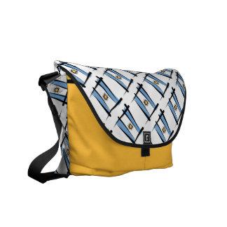 Argentina Brush Flag Messenger Bags