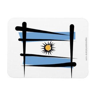 Argentina Brush Flag Flexible Magnets