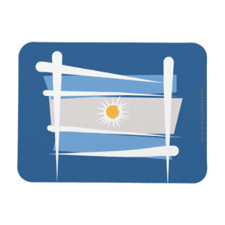 Argentina Brush Flag Rectangular Magnets