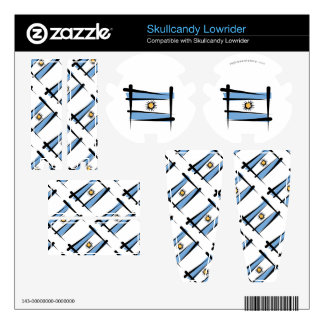 Argentina Brush Flag Skullcandy Lowrider Skins