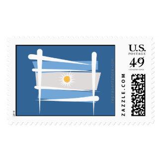 Argentina Brush Flag Stamp