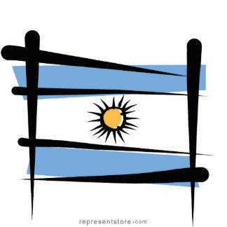 Argentina Brush Flag Statuette