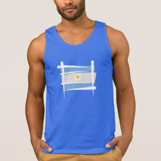 Argentina Brush Flag Tank Top