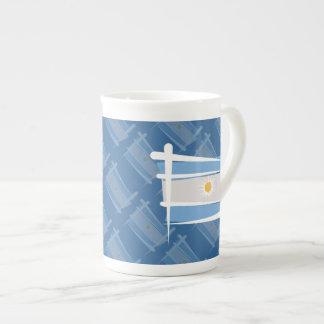 Argentina Brush Flag Tea Cup