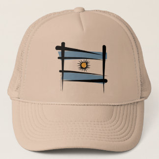 Argentina Brush Flag Trucker Hat
