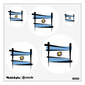 Argentina Brush Flag Wall Sticker