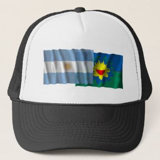 Argentina & Buenos Aires waving flags Trucker Hat