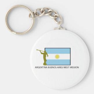 ARGENTINA BUENOS AIRES WEST MISSION LDS BASIC ROUND BUTTON KEYCHAIN