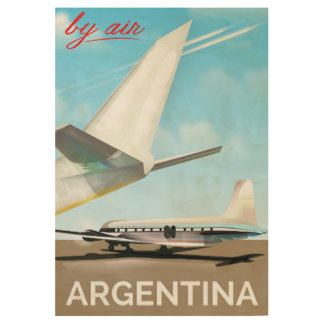"""Argentina """"By Air"""" vintage flight poster"""