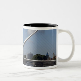 Argentina, Capital city of Buenos Aires. Woman Two-Tone Coffee Mug