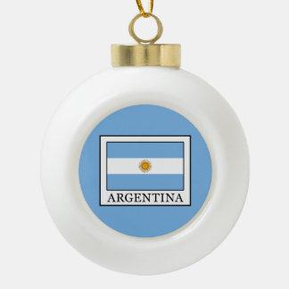 Argentina Ceramic Ball Christmas Ornament