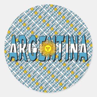 Argentina Classic Round Sticker